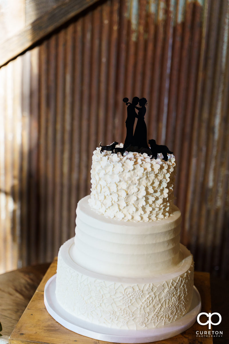 Wedding cake by Holly's Cakes.