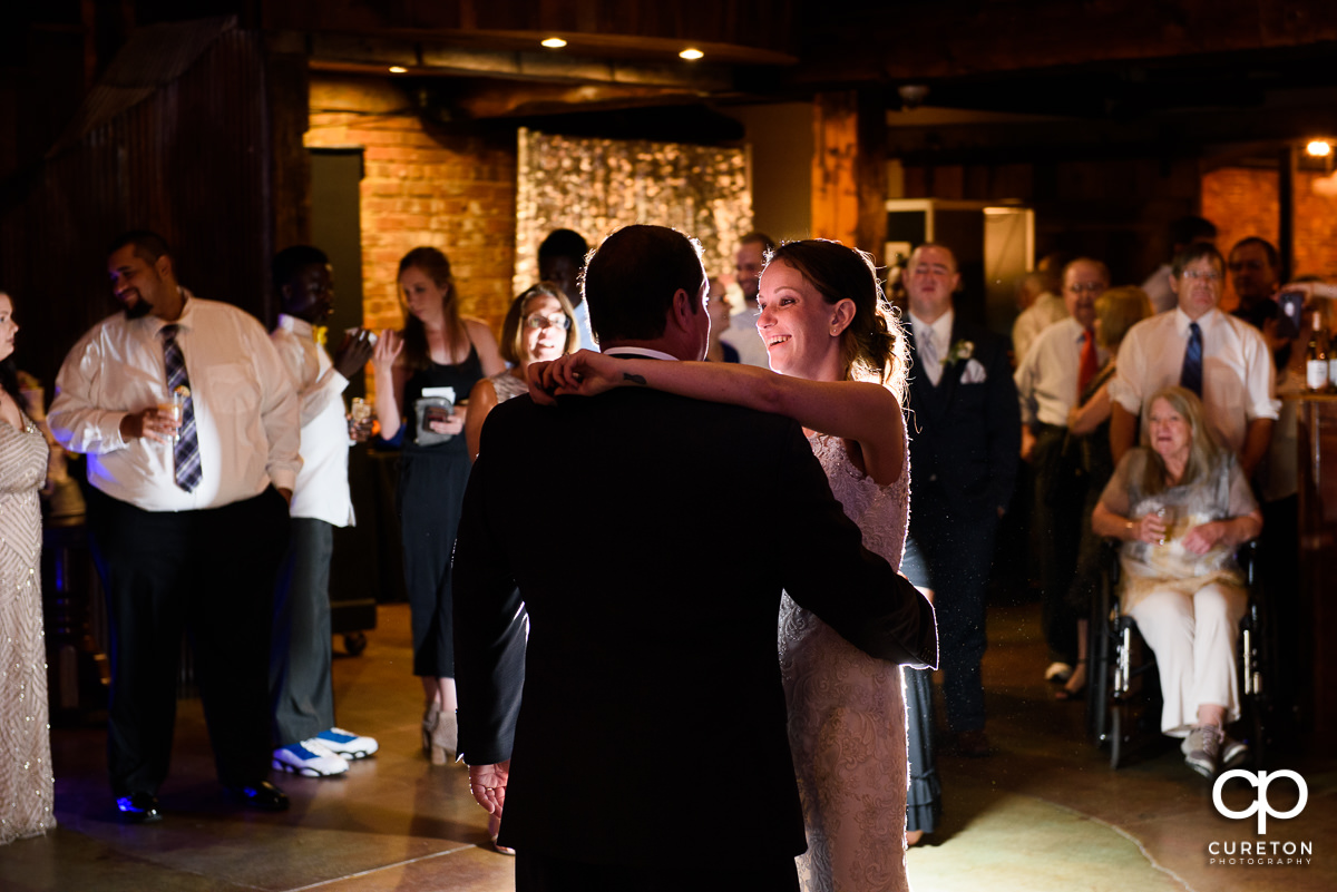 Bride dancing with her father.