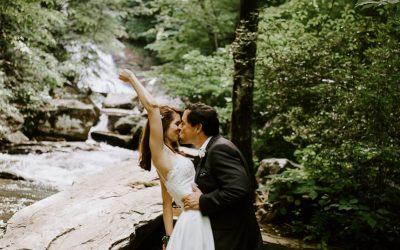 Pearson's Falls Wedding in Saluda,NC – Ashley + Tripp