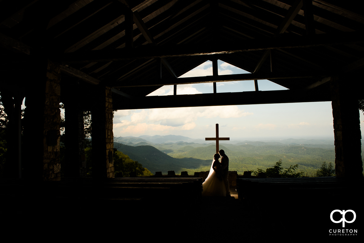 Bride and Groom silhouette at Pretty Place.