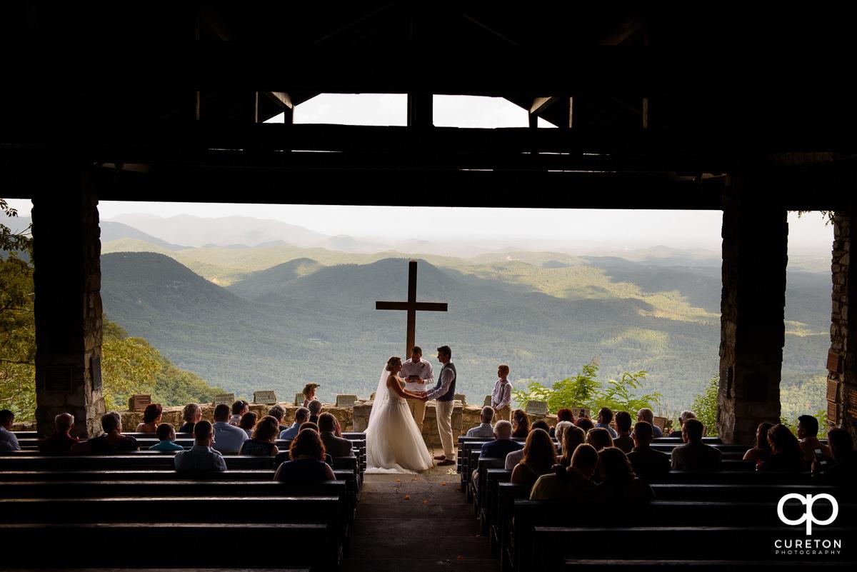 Pretty Place wedding ceremony, aka Symmes Chapel.