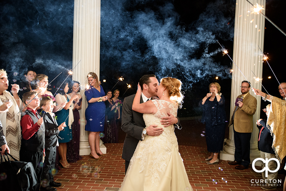 The bride and groom's sparkler leave at the Ryan Nicholas Inn.