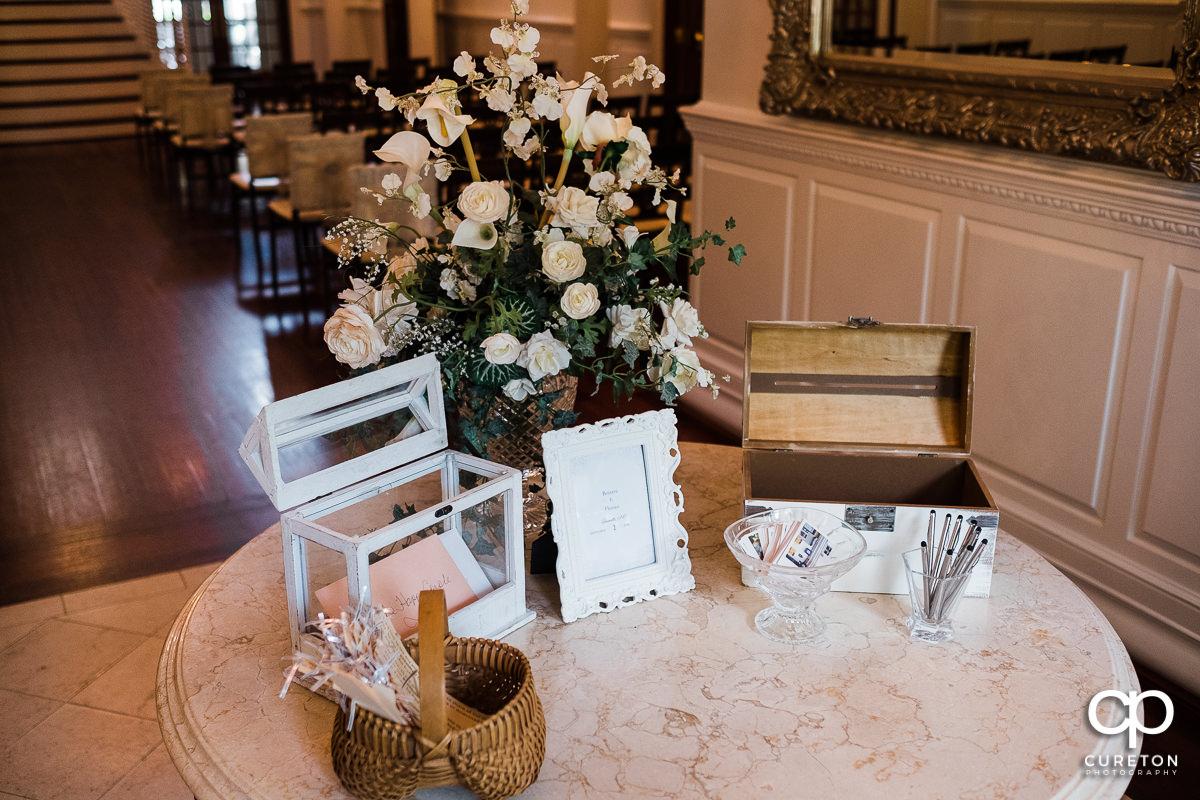 Wedding guestbook.
