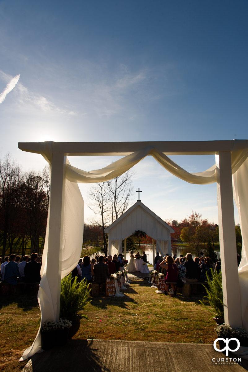South Wind Ranch wedding ceremony.