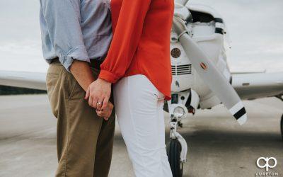 Spartanburg Airport Engagement Session – Meredith + Adam