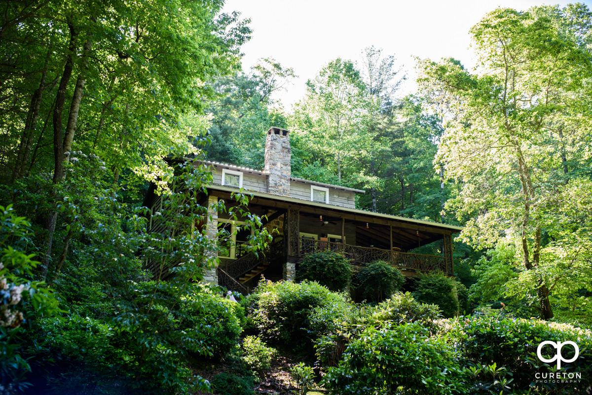 Cabin near Symmes Chapel.