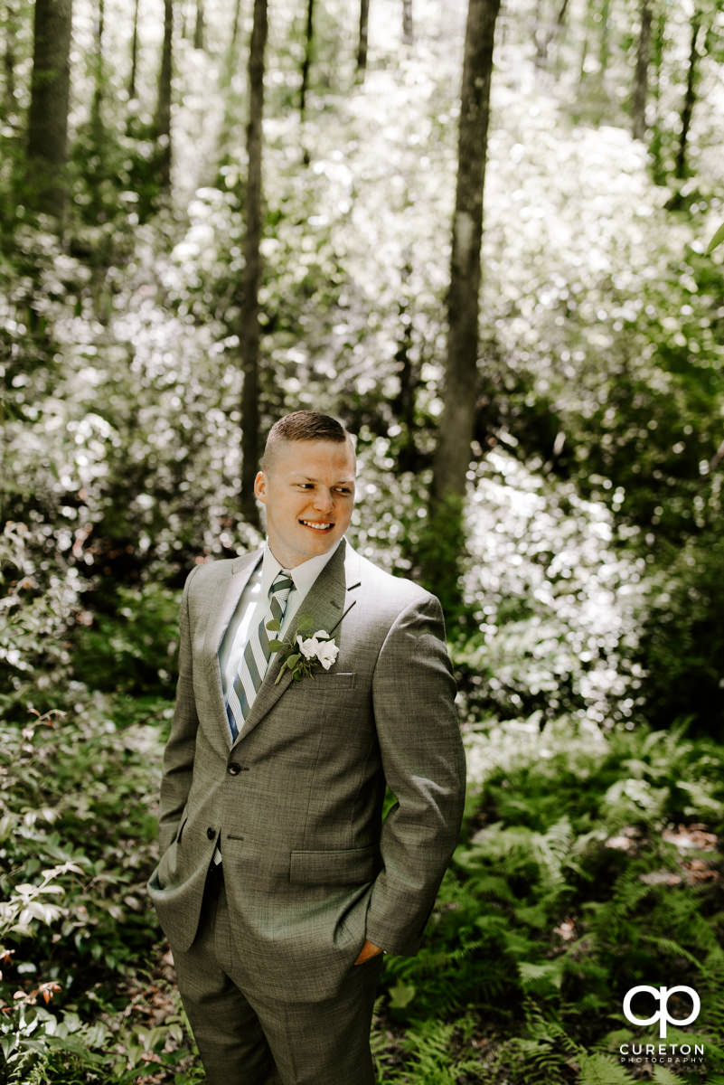 Groom in the forest.