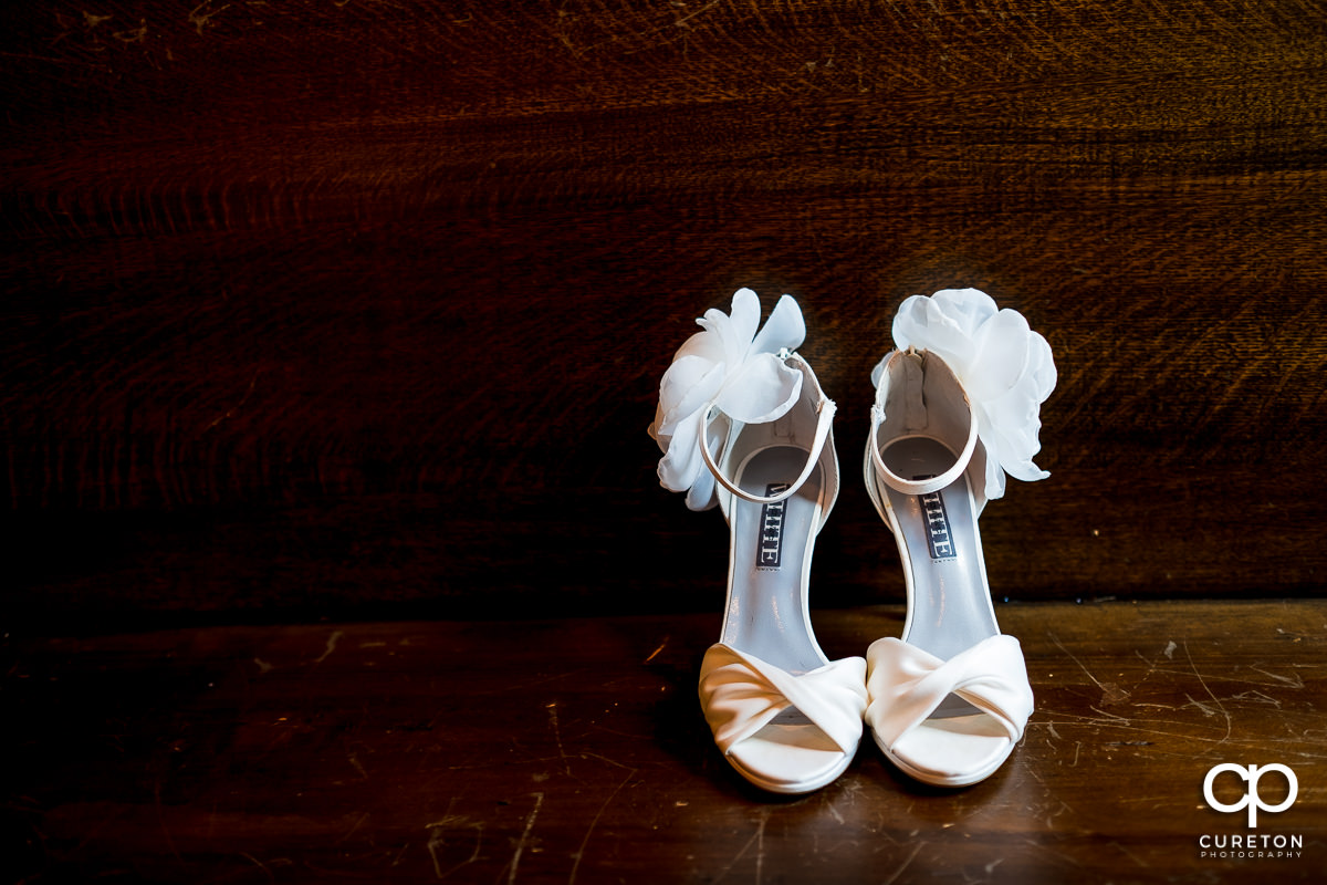 Bride's second pair of shoes.