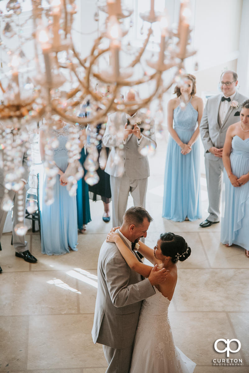 First dance at the Tybee Island wedding reception.