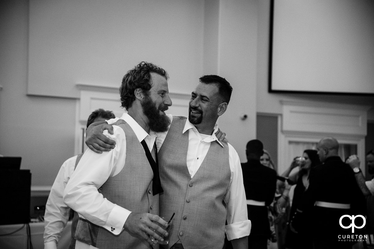 Groom and one of his groomsmen.