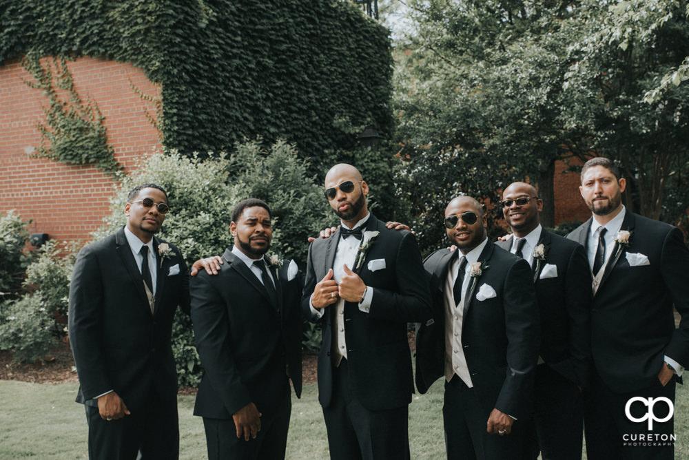 The groomsmen.