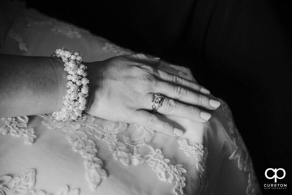 Bride's hands.