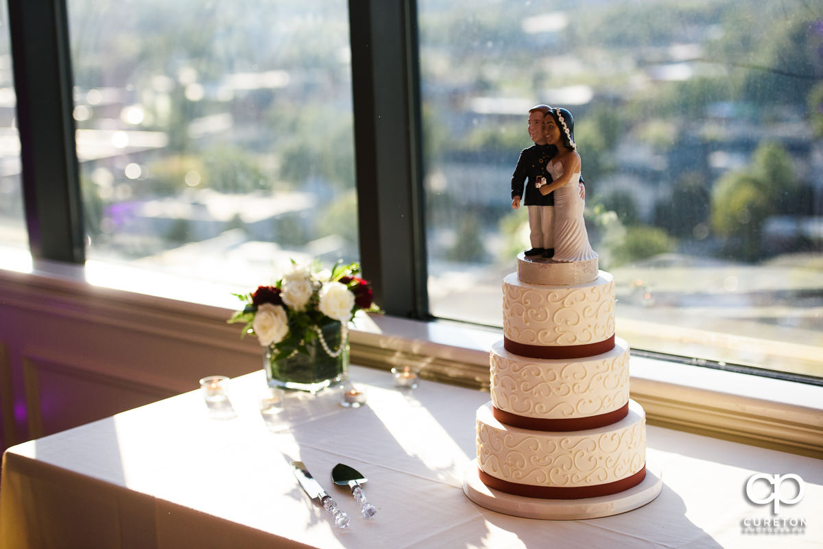 Wedding cake by Couture Cakes at the Commerce Club reception.