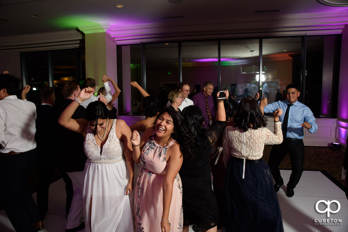 Guests packing the dance floor at the Commerce Club.