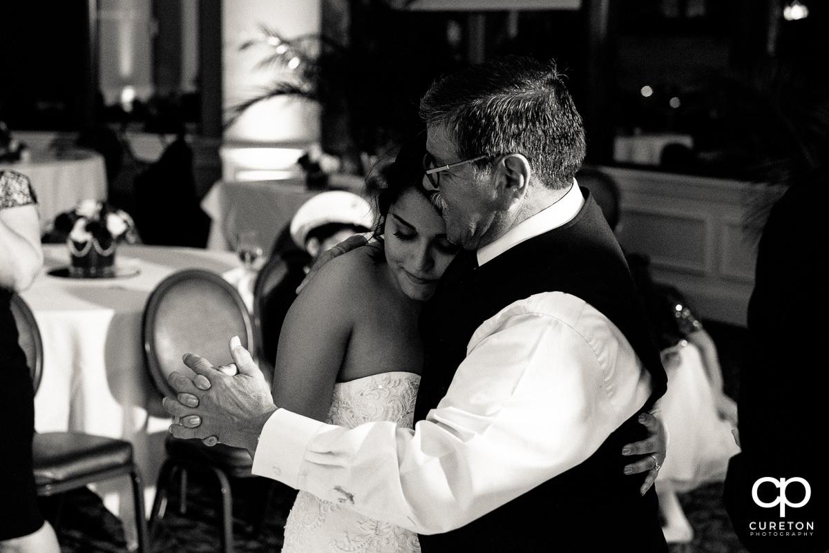 Bride dancing wth her grandpa.