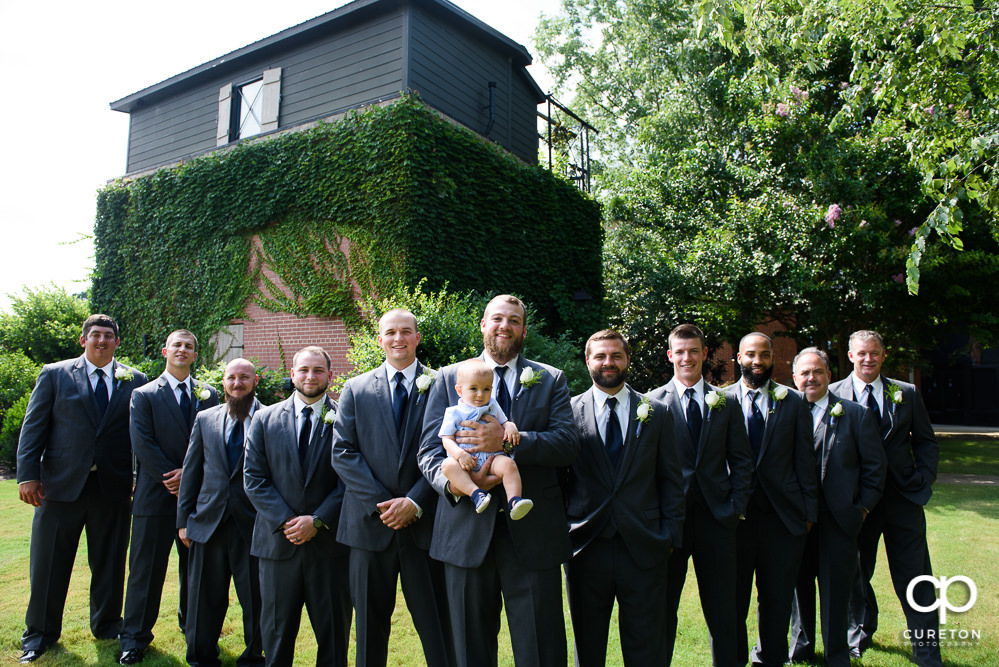 Groomsmen before the wedding.