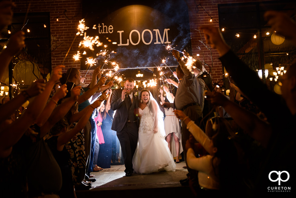 Sparkler grand exit at The Loom.