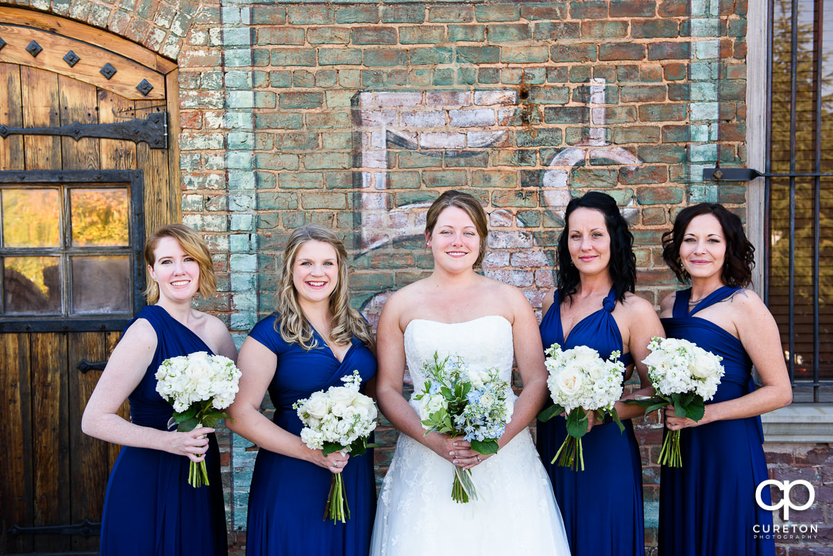Bride and bridesmaids before the wedding.