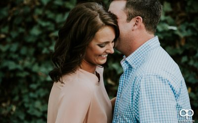 West End Greenville SC Engagement Session – Erika + George