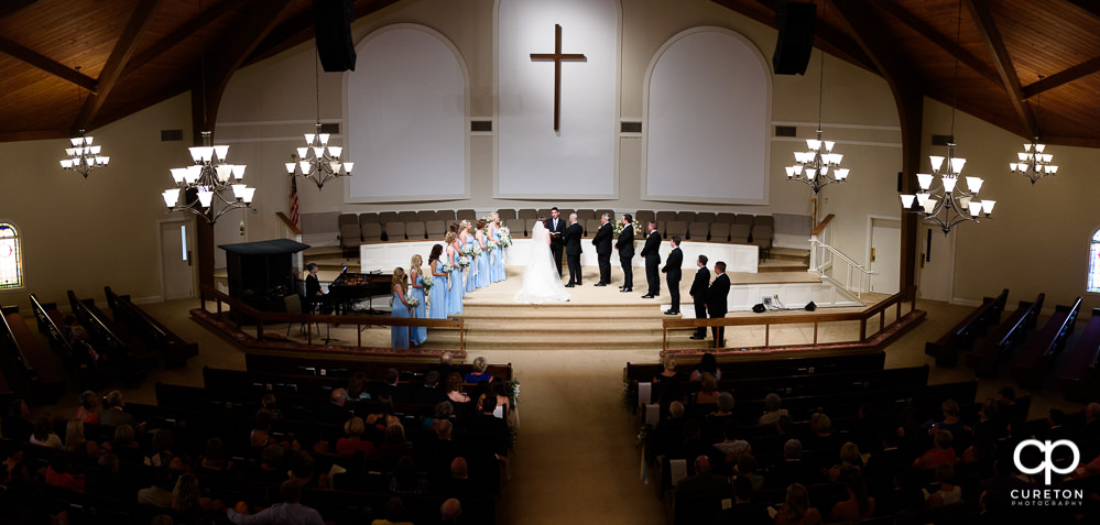 Wedding ceremony at Covenant United Methodist Church.