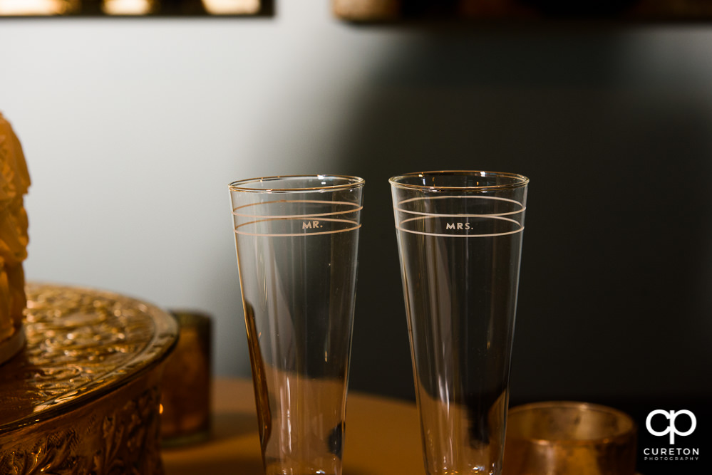 Wedding toast glasses.