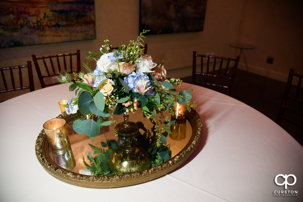 Wedding centerpieces by Greg Hall.