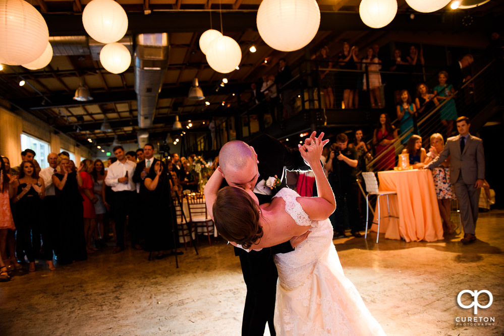 Bride and Groom having their first dance as husband and wife at Zen wedding reception.