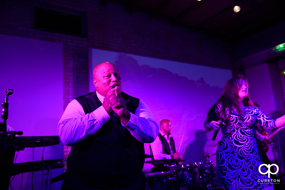 The Flashback wedding band from Charlotte, NC rocking the reception.
