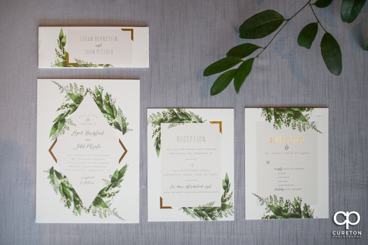 Invitations for the wedding.