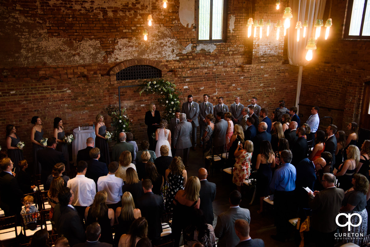 Wedding at The Old Cigar Warehouse from above.