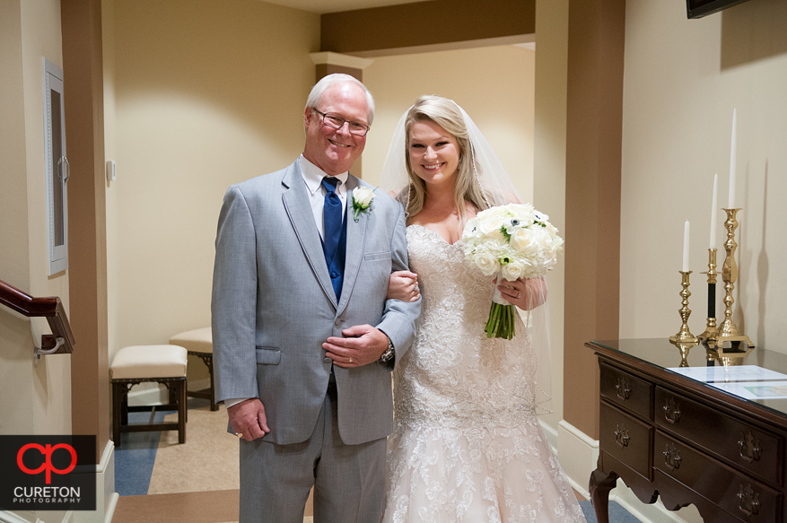 Bride and her father.