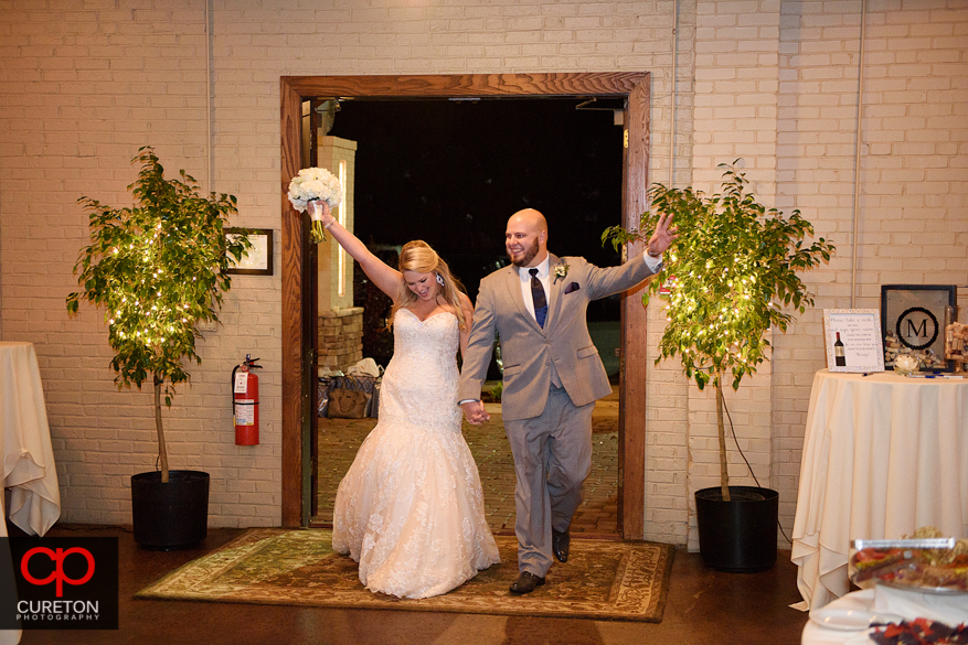 Bride and Groom make their entrance.