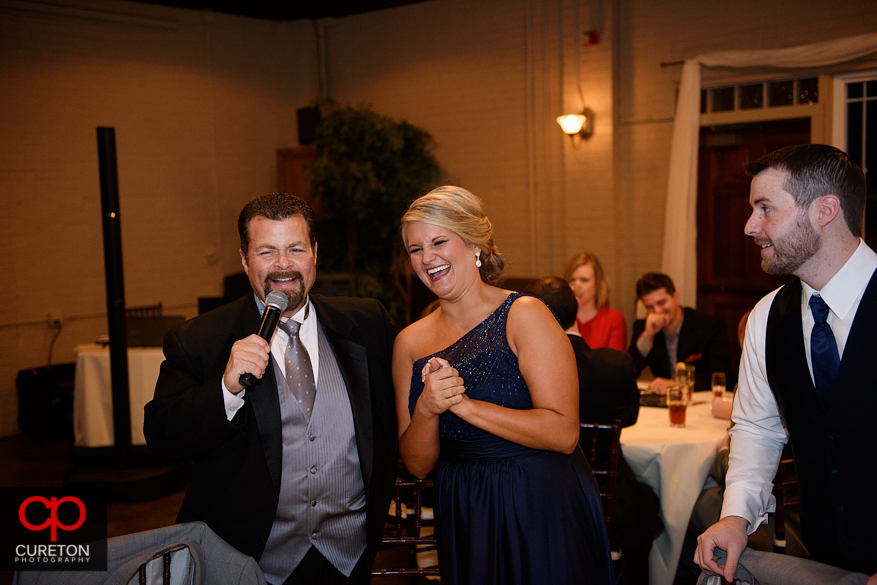 Guests sing for their dinner.