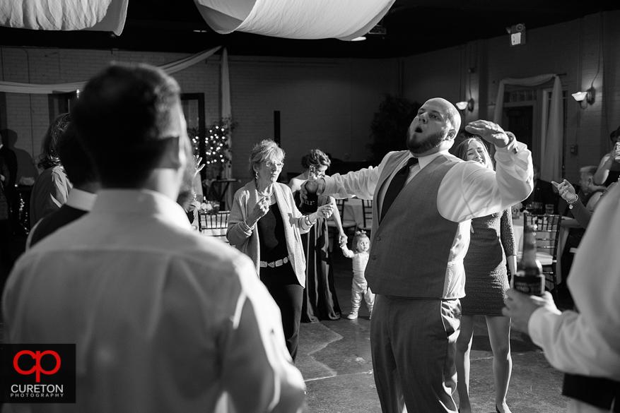 Carolina Party Professionals keep the reception guests dancing.