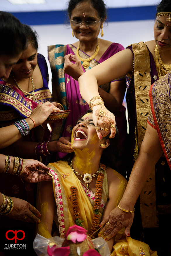 Image of a recent vidhi by Greenville,SC Indian Wedding Photographers Cureton Photography .