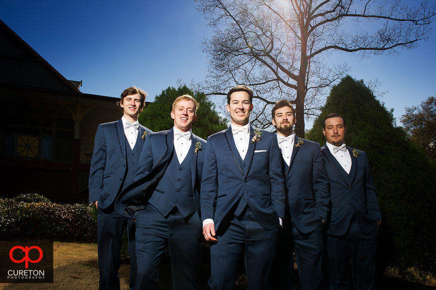 Groomsmen before the wedding at Cleveland Park.