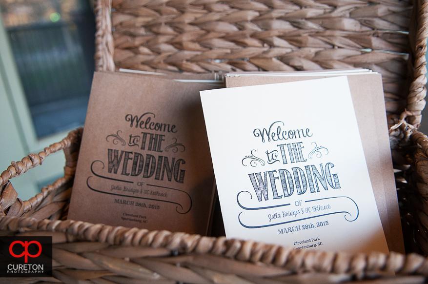 Wedding decor outside Cleveland Park.