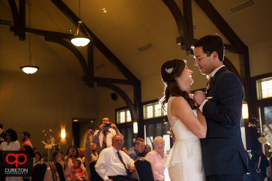 First dance of bride and groom.