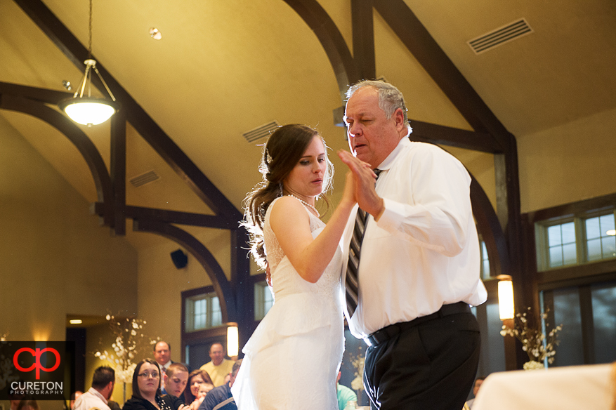 Father daughter dance at the reception.