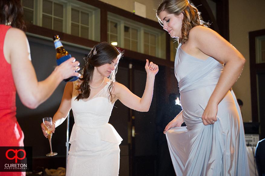 Bride dancing at her reception/