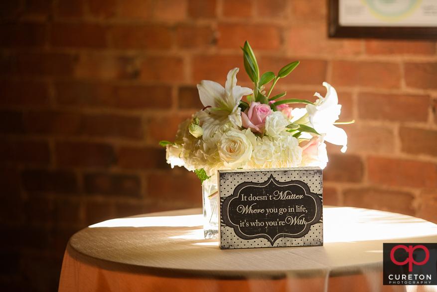 Floral arrangement by Greg Foster.