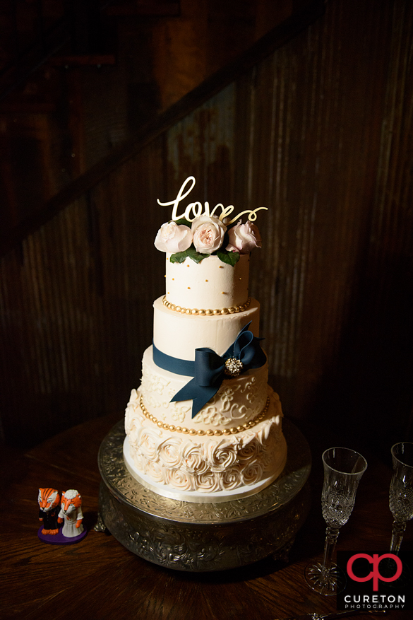 Cake by Buttercream Bakehouse at the Old Cigar Warehouse.