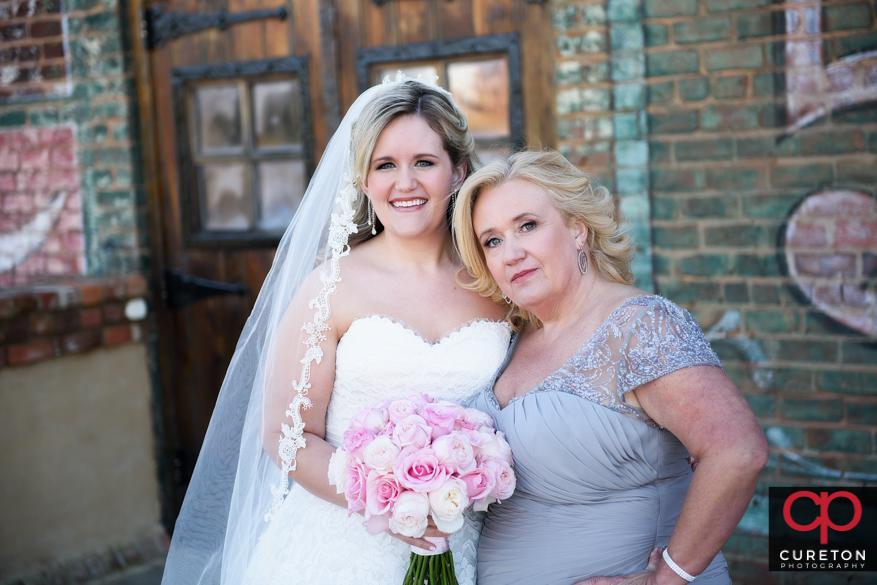 Birde and her mom.