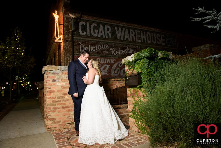 Married couple outside the Cigar Warehouse.