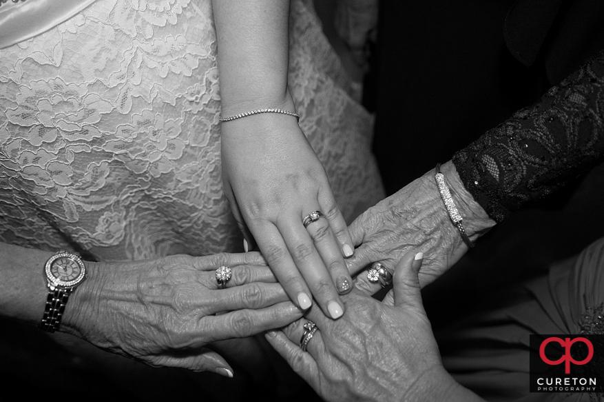 Generations of wedding rings.