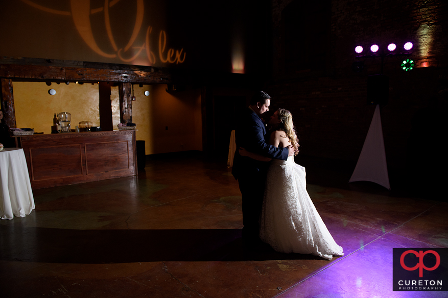 The bride and groom's last dance.