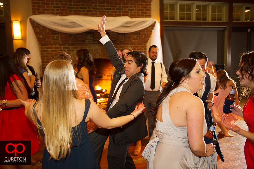 Guests dancing the night away.