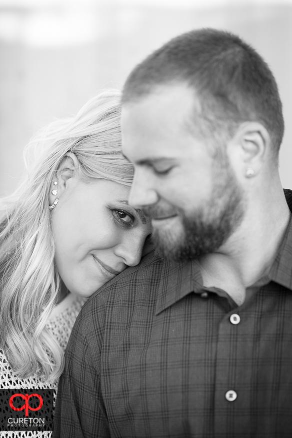 Nice closeup of an engaged couple.