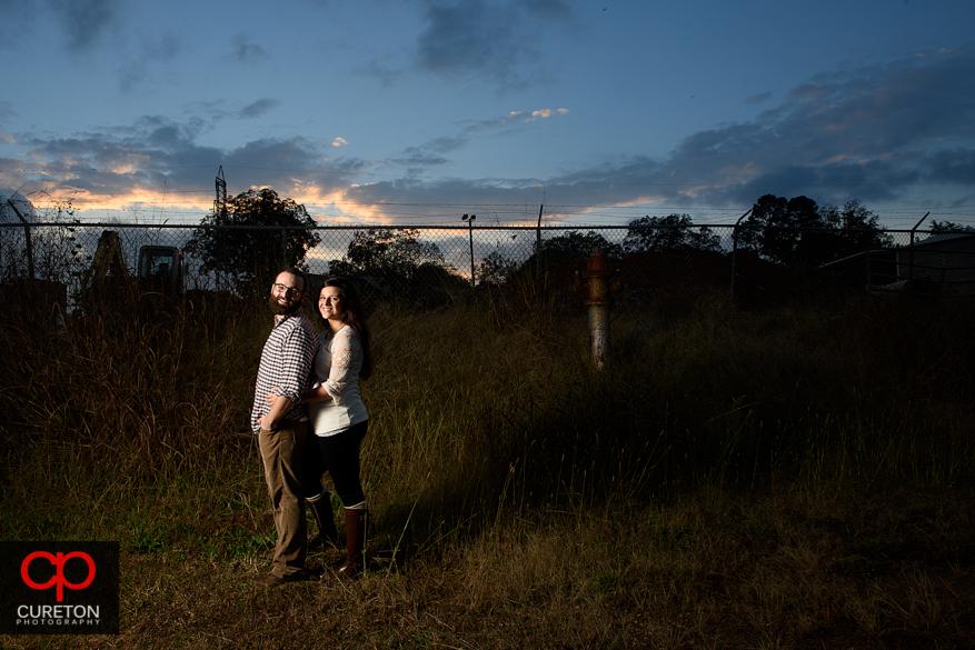 Epic engagement photo at sunset.