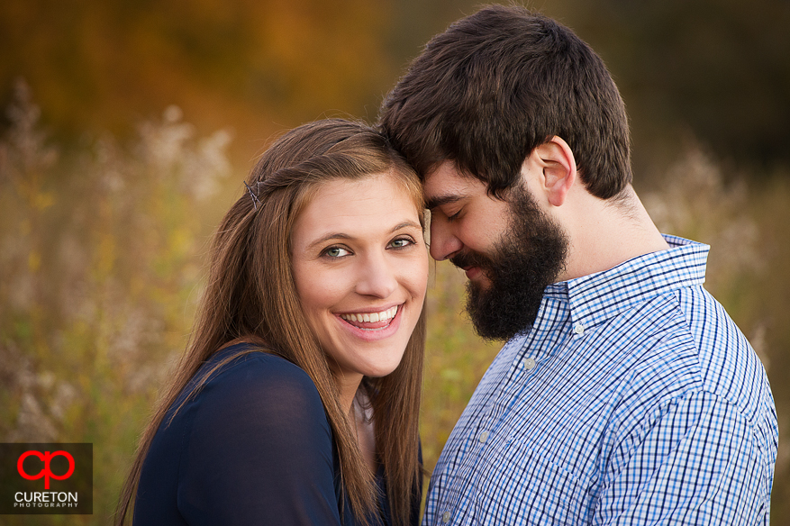 Headshot of an engaged couple.